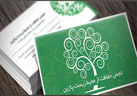 کارت ویزیت رنگ سبز