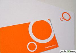 کارت ویزیت رنگ نارنجی
