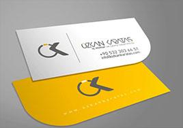 کارت ویزیت زرد