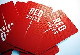 کارت ویزیت قرمز